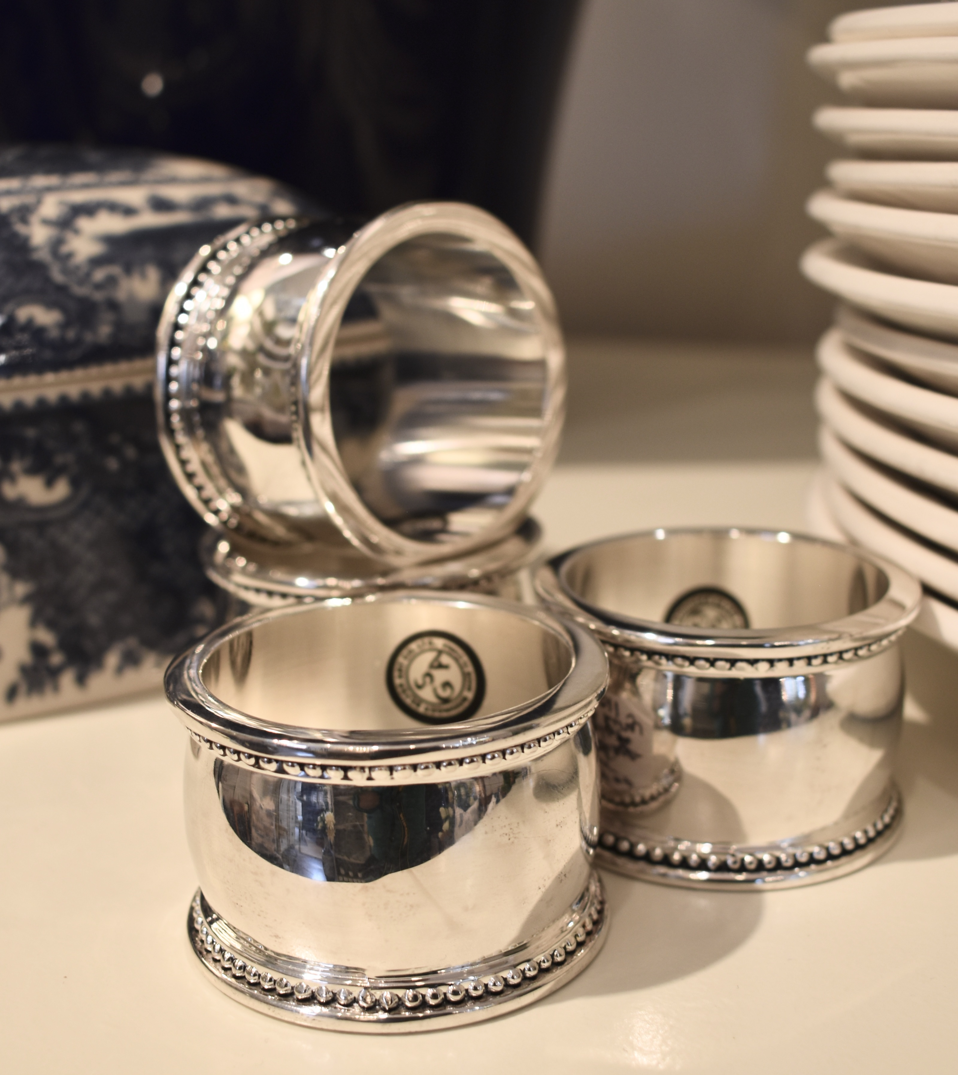 Set of 4 Silver Plated Napkin Rings