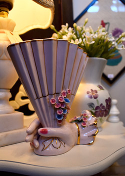 Vintage Fan Vase