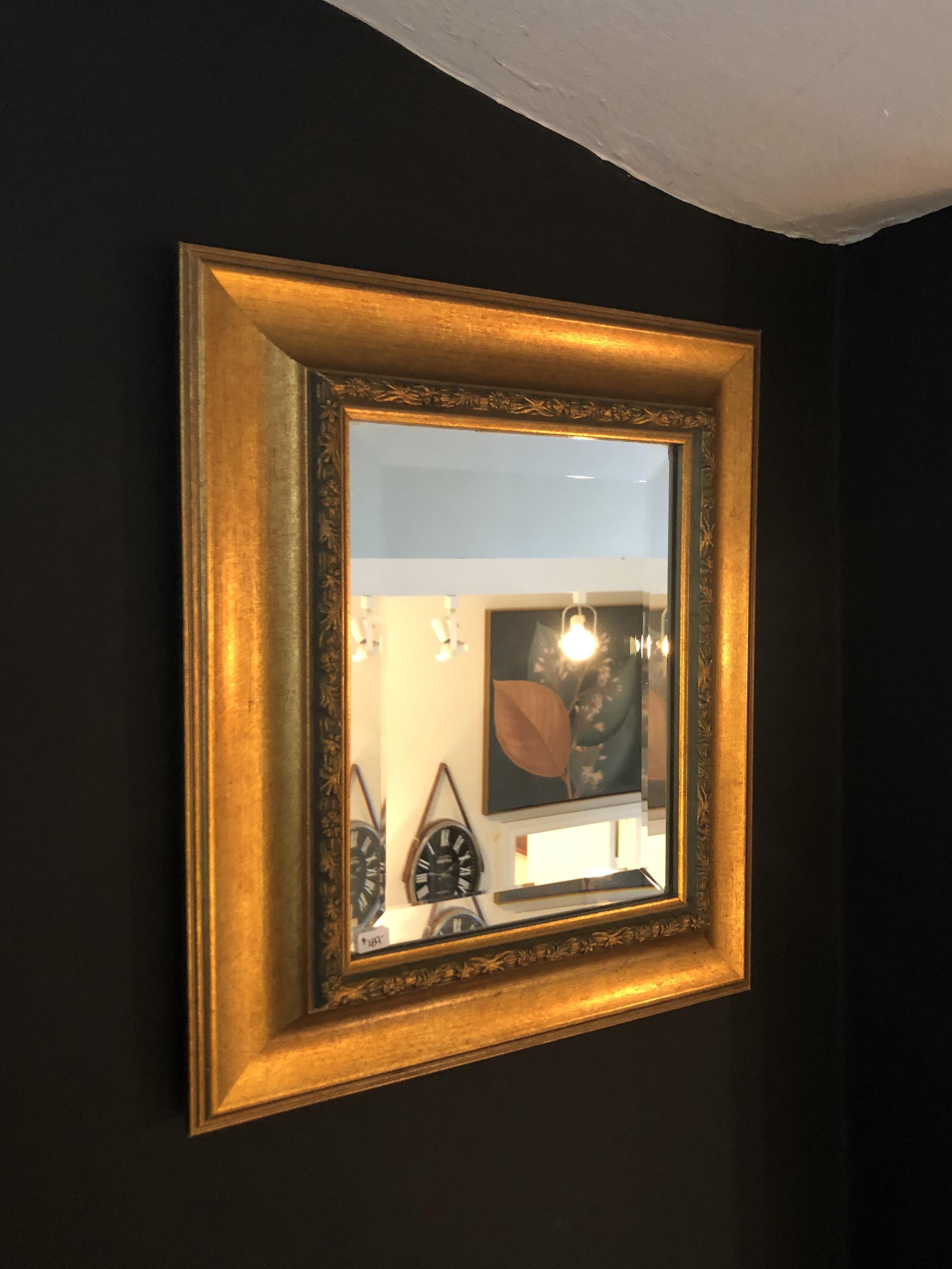 Vintage Beveled Gold Mirror