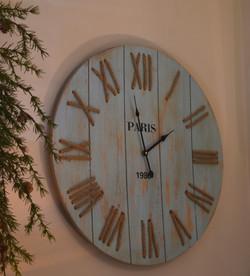 """Wood and Rope """"Paris"""" Clock"""