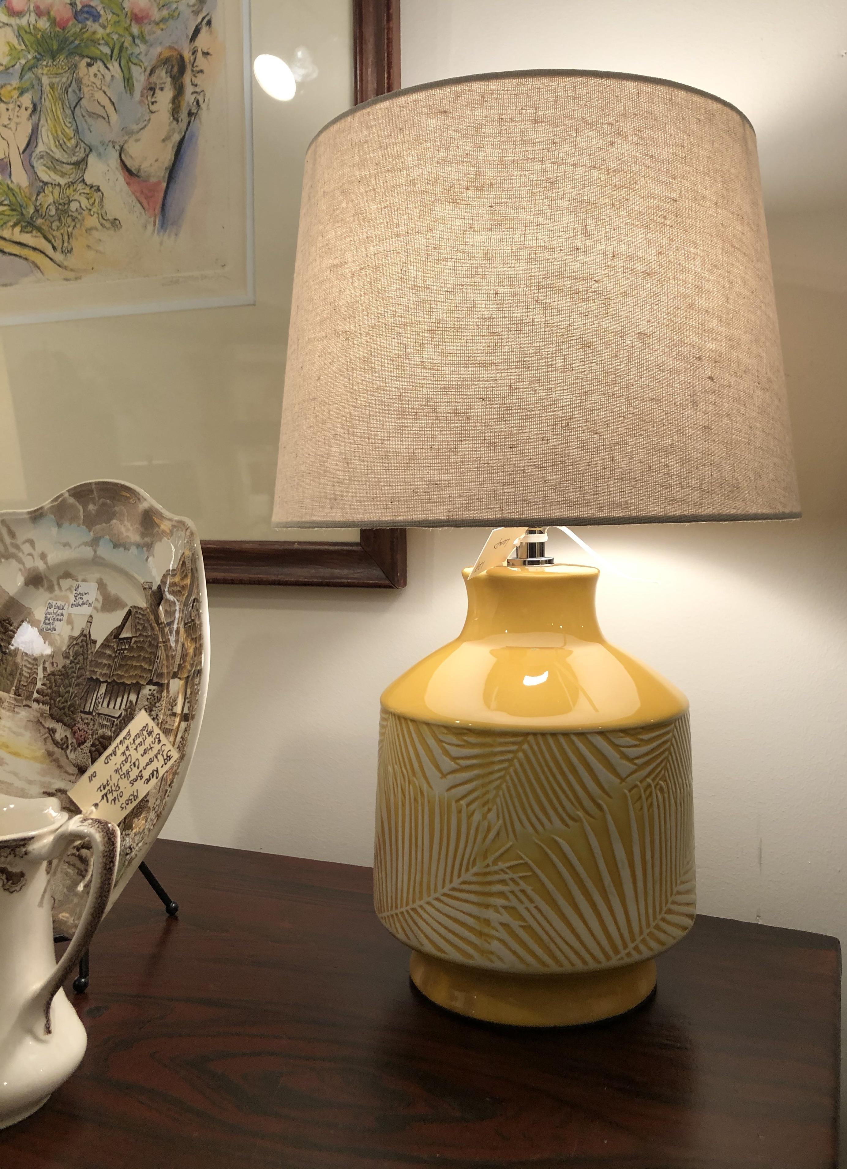 Yellow Ceramic Lamp