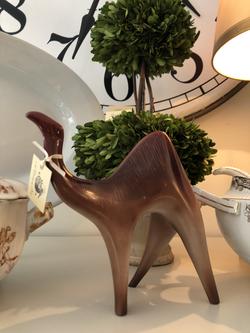 MidCentury Signed Modernist Procelain Camel