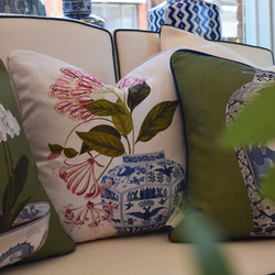 Designer Feather Accent Cushions - Cinchona and Vase