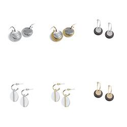 Drop Disk Earrings