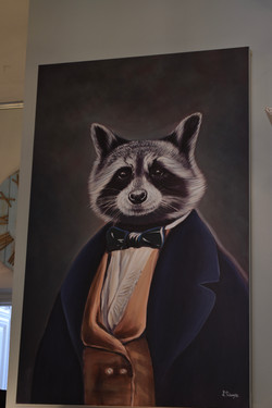 Canvas Art - Tribec Raccoon