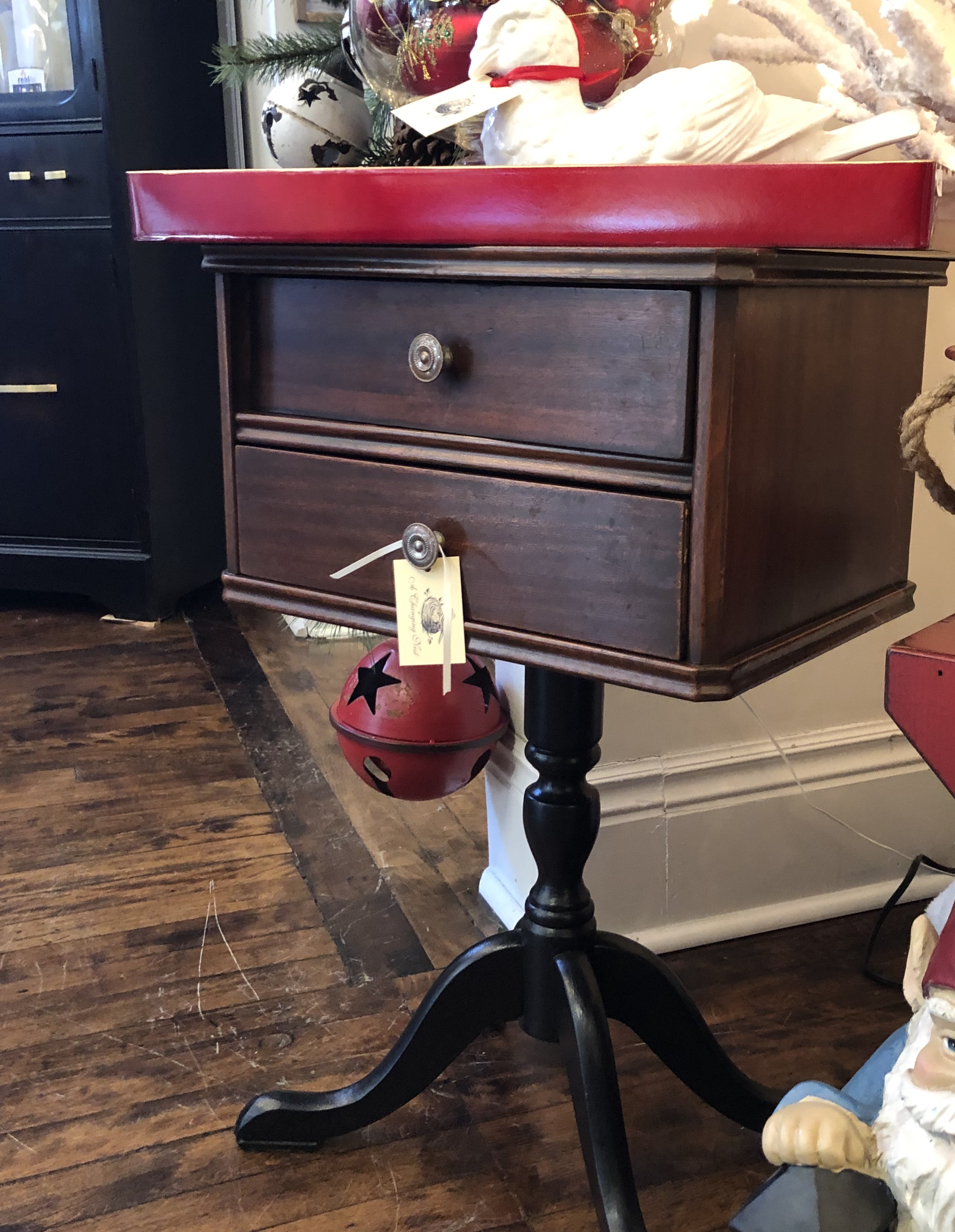 Vintage Pedestal Sewing Table
