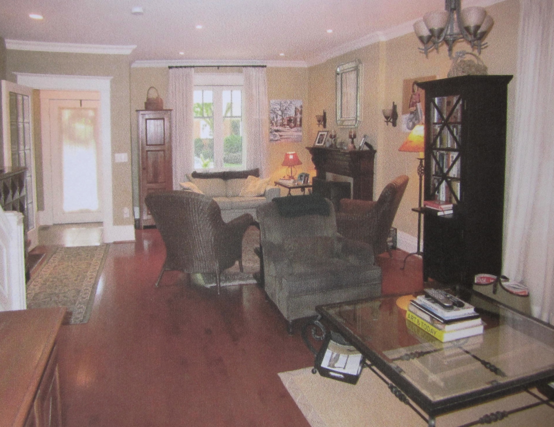 Before - Living Room and Entrance