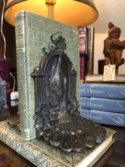 Vintage Peacock Bookends