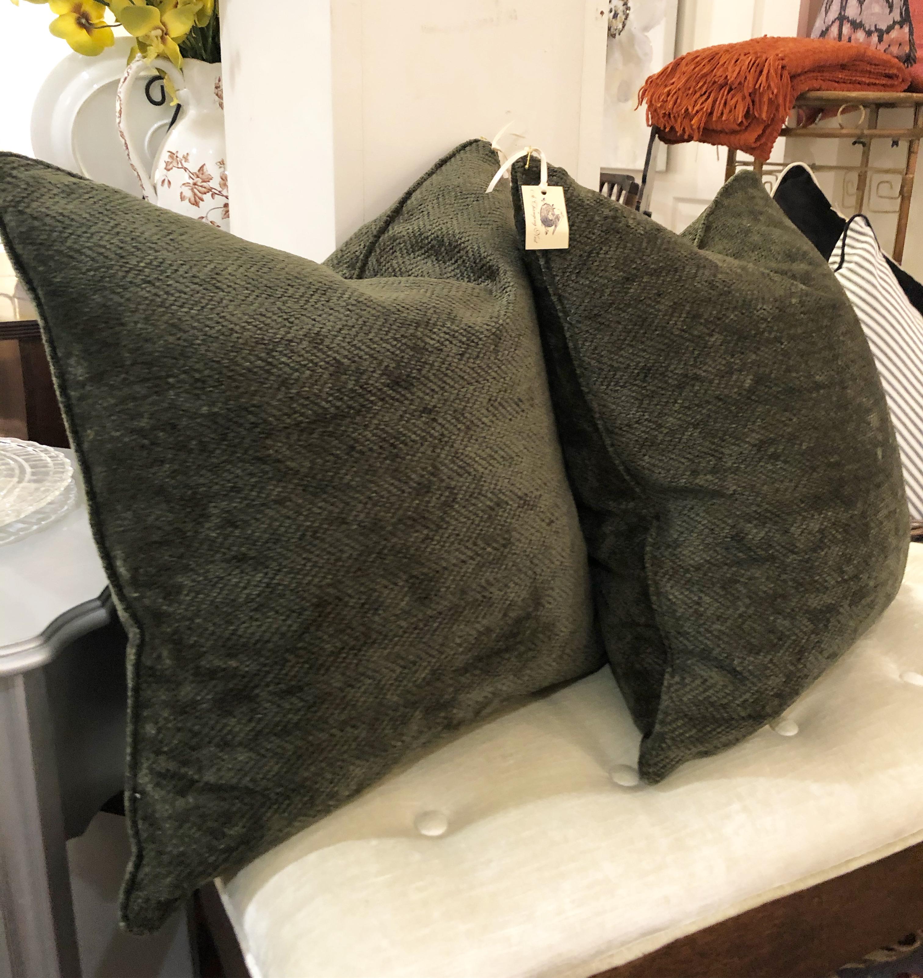 Custom Dark Green Cushion