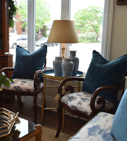 Antique Chair with Newly Upholstered Sea