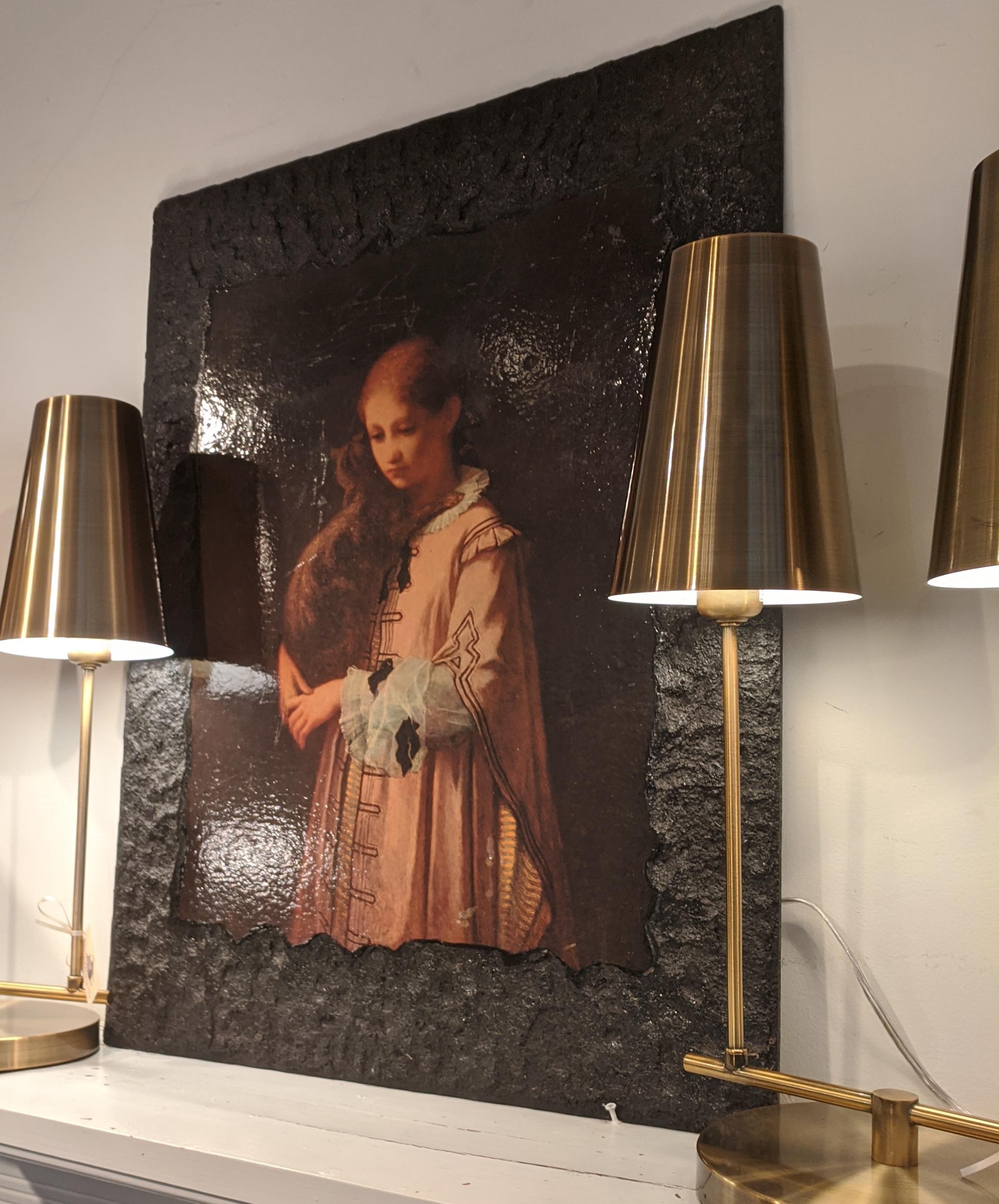 Vintage Art mounted on wood