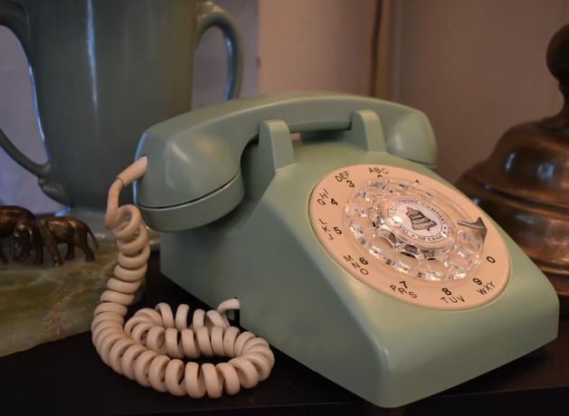 Avacado and Cream Vintage 1960s Telephone