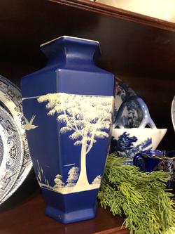 Vintage English Handpainted Vase