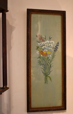 Vintage Original Framed Floral Art