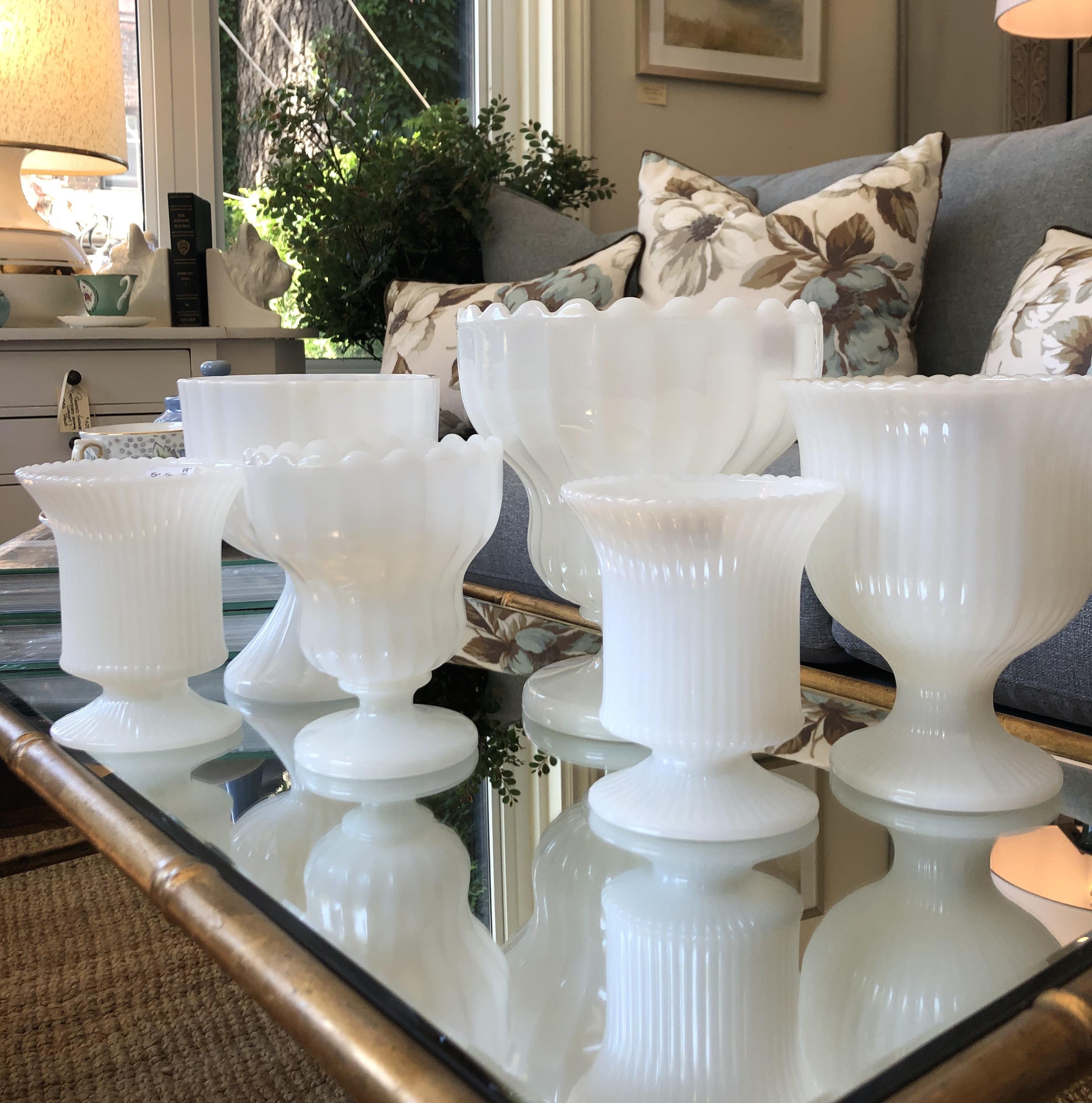 Assorted Milkglass Vases