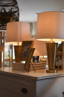 Modern Hammered Gold Lamps
