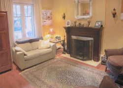 Before - Living Room and Fireplace