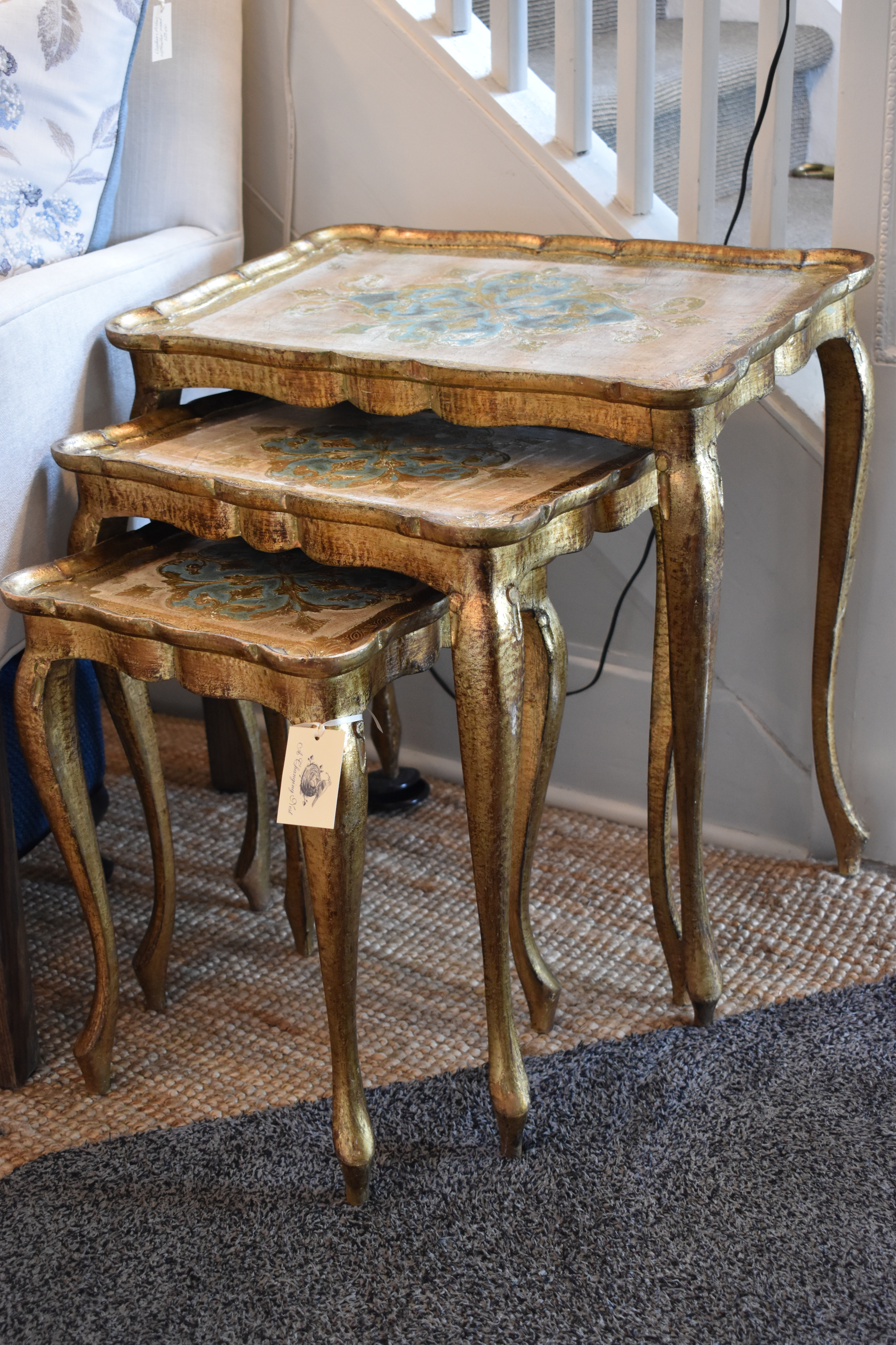 Set of Florentine Nesting Tables