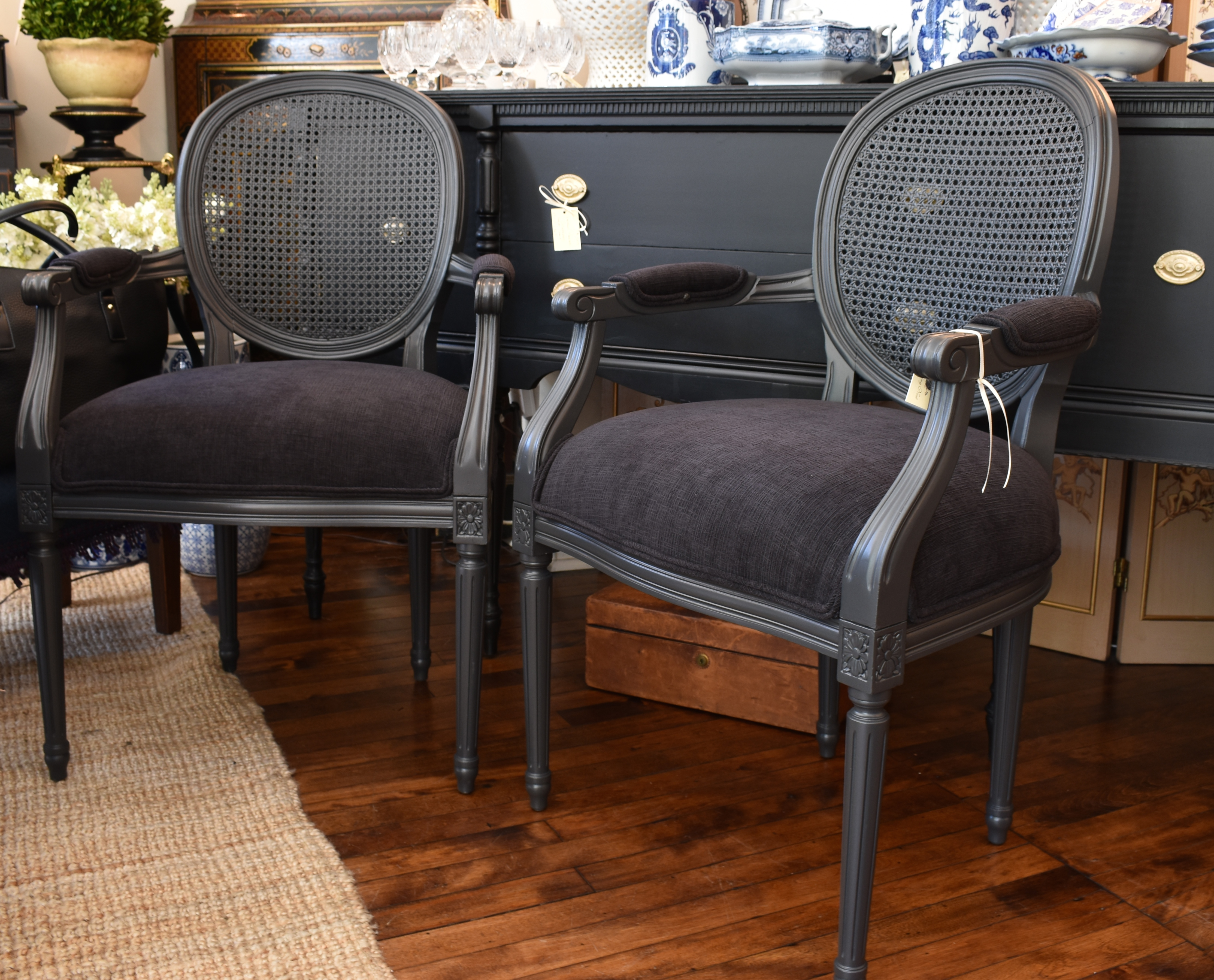 Single Caneback Bergere Chair