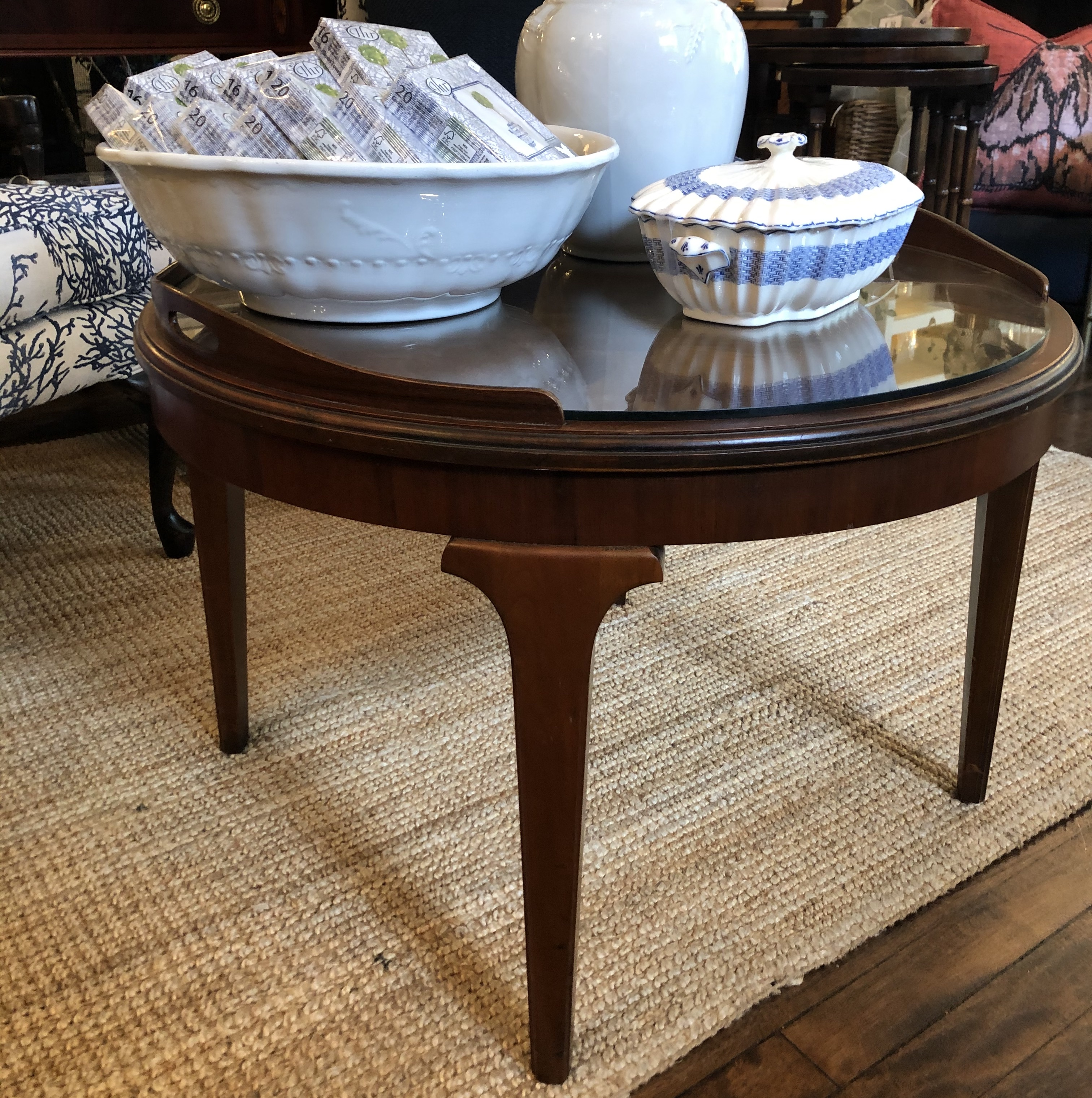 Vintage Round Wooden Coffee Table