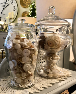 Vintage Jar and Button
