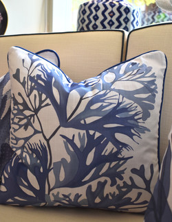 Designer Feather Accent Cushions - Seaweed 8