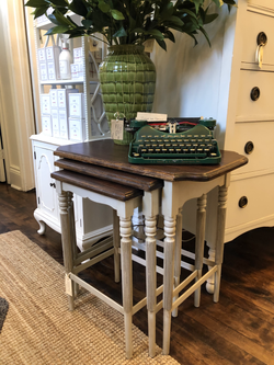 Painted Vintage Nesting Tables