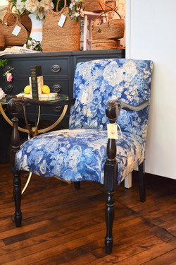 Newly Reupholstered Vintage Armchair