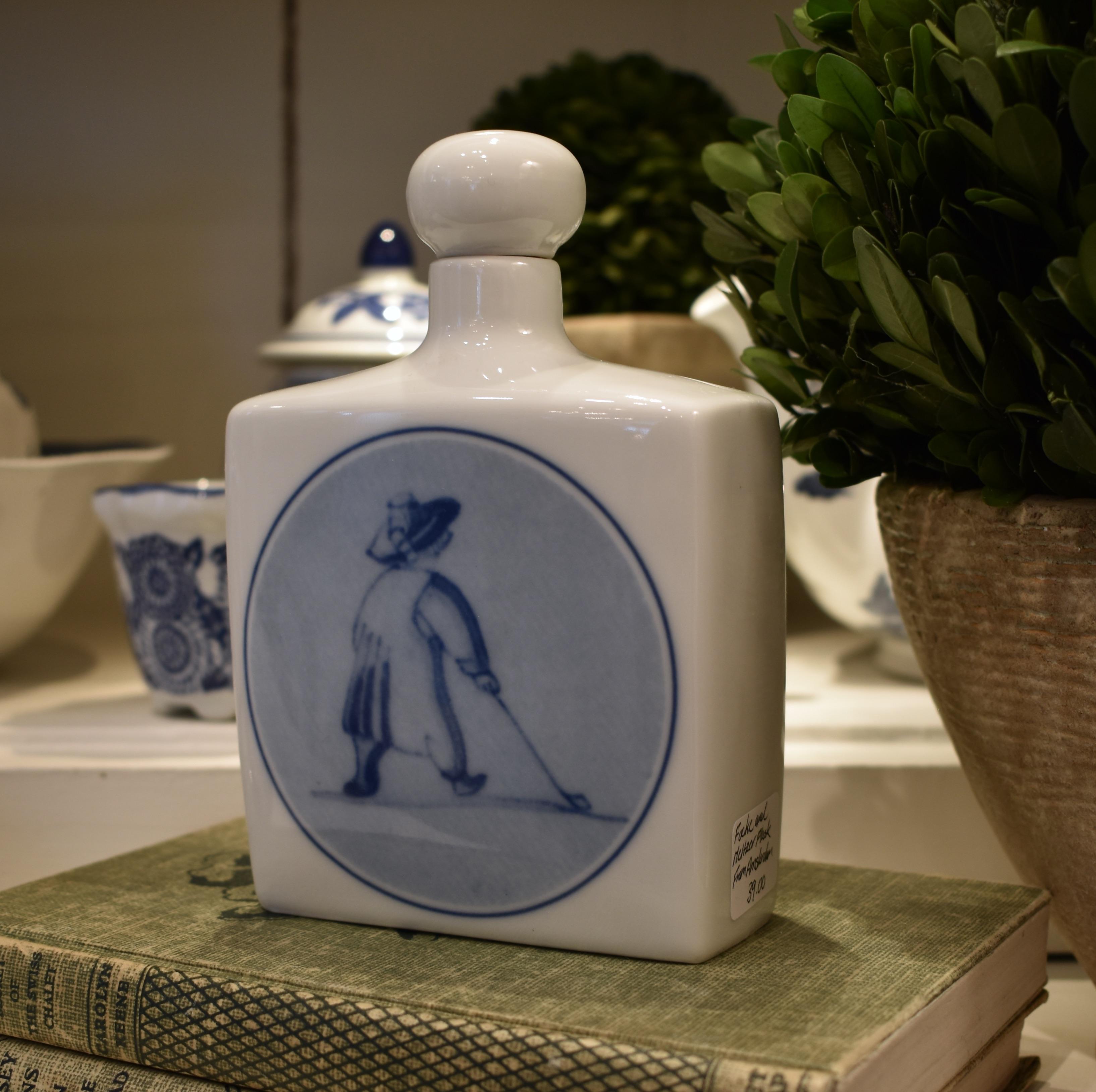 Vintage Focke & Meltzer Ceramic Flask