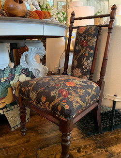 Unusual Pair of Antique Upholstered Chairs