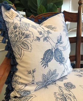 Custom Designer Plaid Cushion with Fring