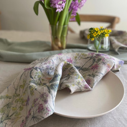 Set Premium European Linen Napkin
