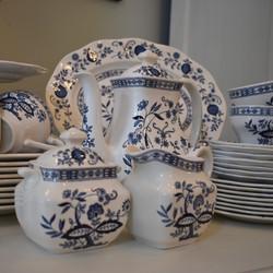 49 pc Vintage Wedgewood Blue Onion Set