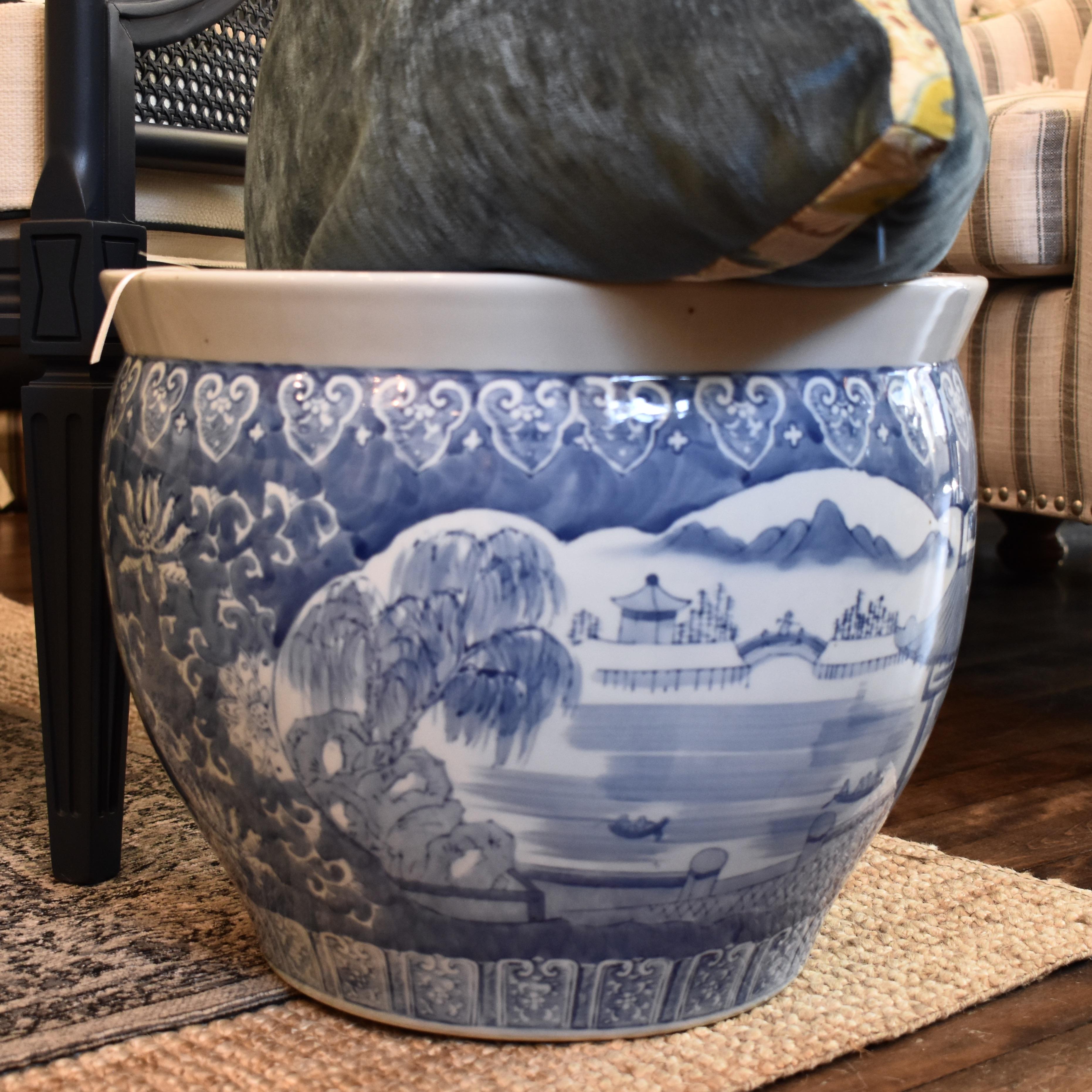 Vintage Asian Planter Urn.