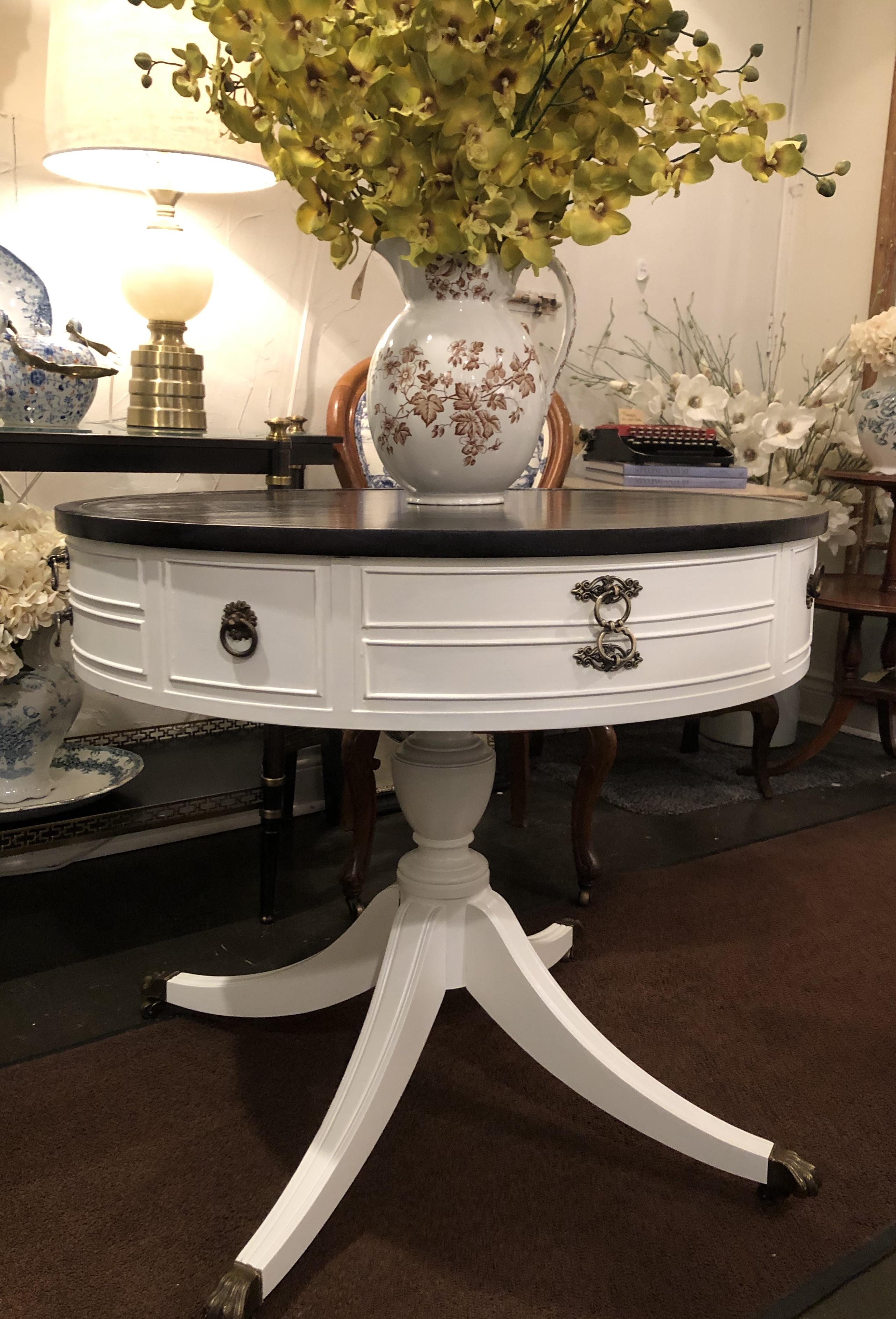 Painted Vintage Barrel Top Table