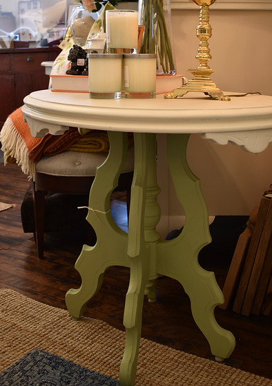 Painted Vintage Oval Occasional Table