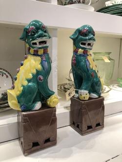 Antique Porcelain Foo Dogs
