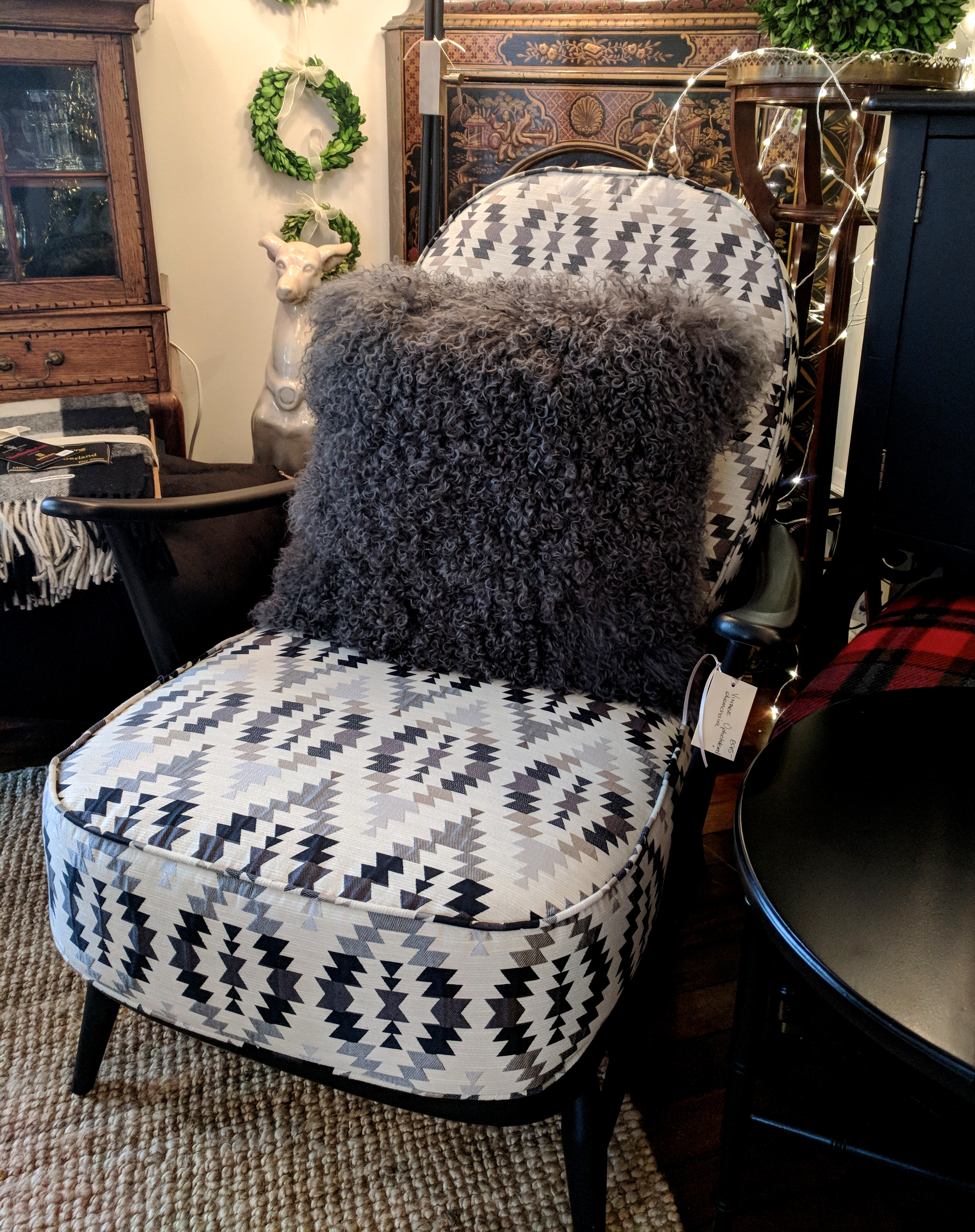 Newly reupholstered Armchair