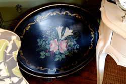 Large Vintage Painted Tray