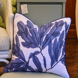 Designer Feather Accent Cushions - Seaweed 4