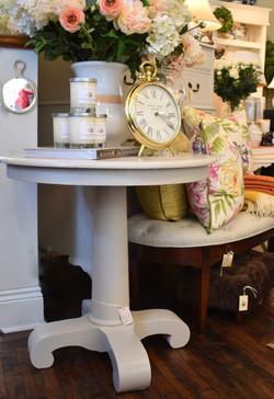 Painted Vintage Pedestal Table