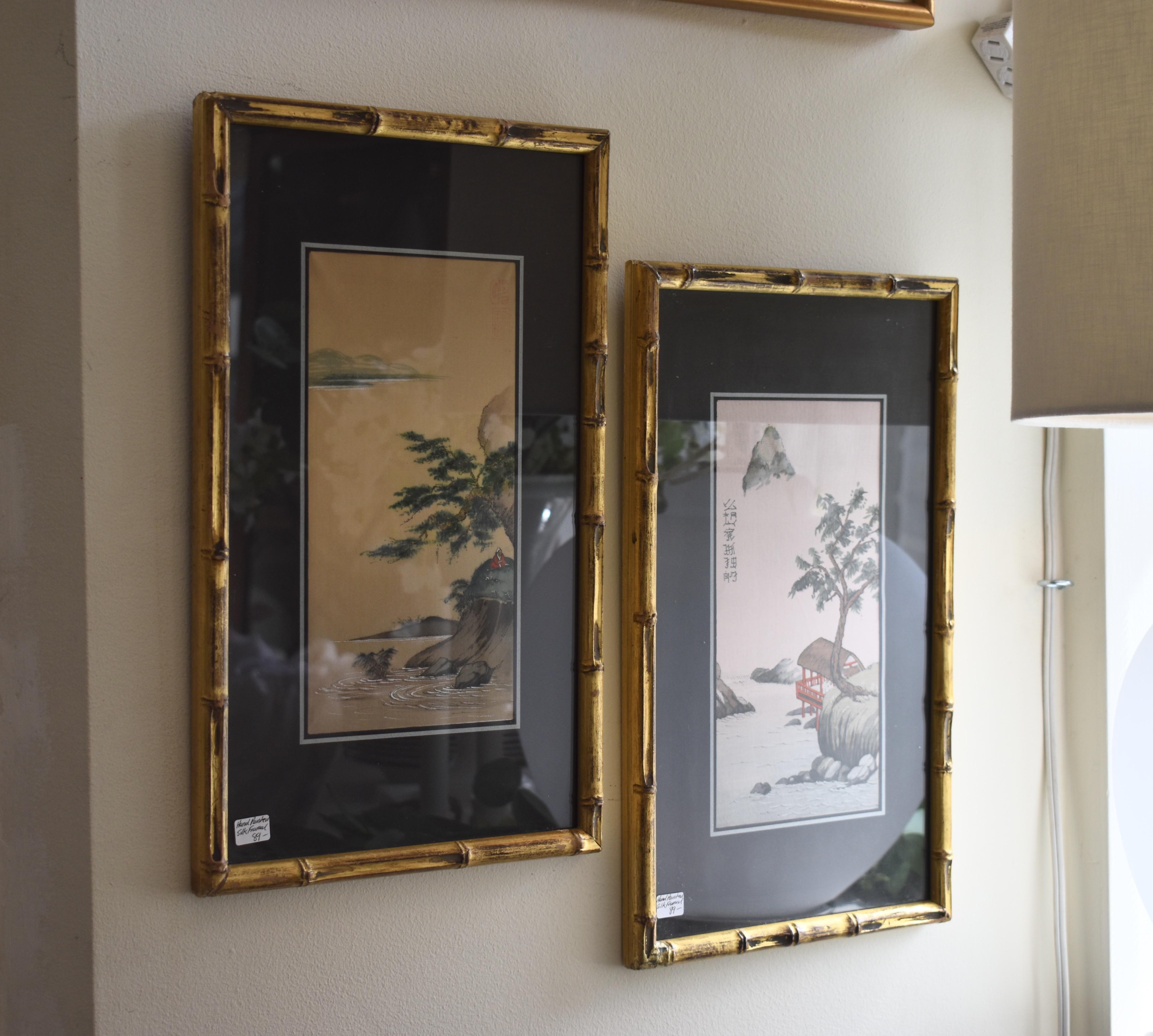 Vintage Frame Paintings on Silk