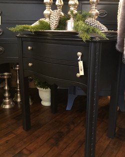 Painted End Table with Drawer