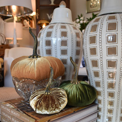 Handmade Velvet Pumpkins - 3 Sizes