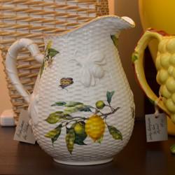 Lemon & Bee Ceramic Pitcher