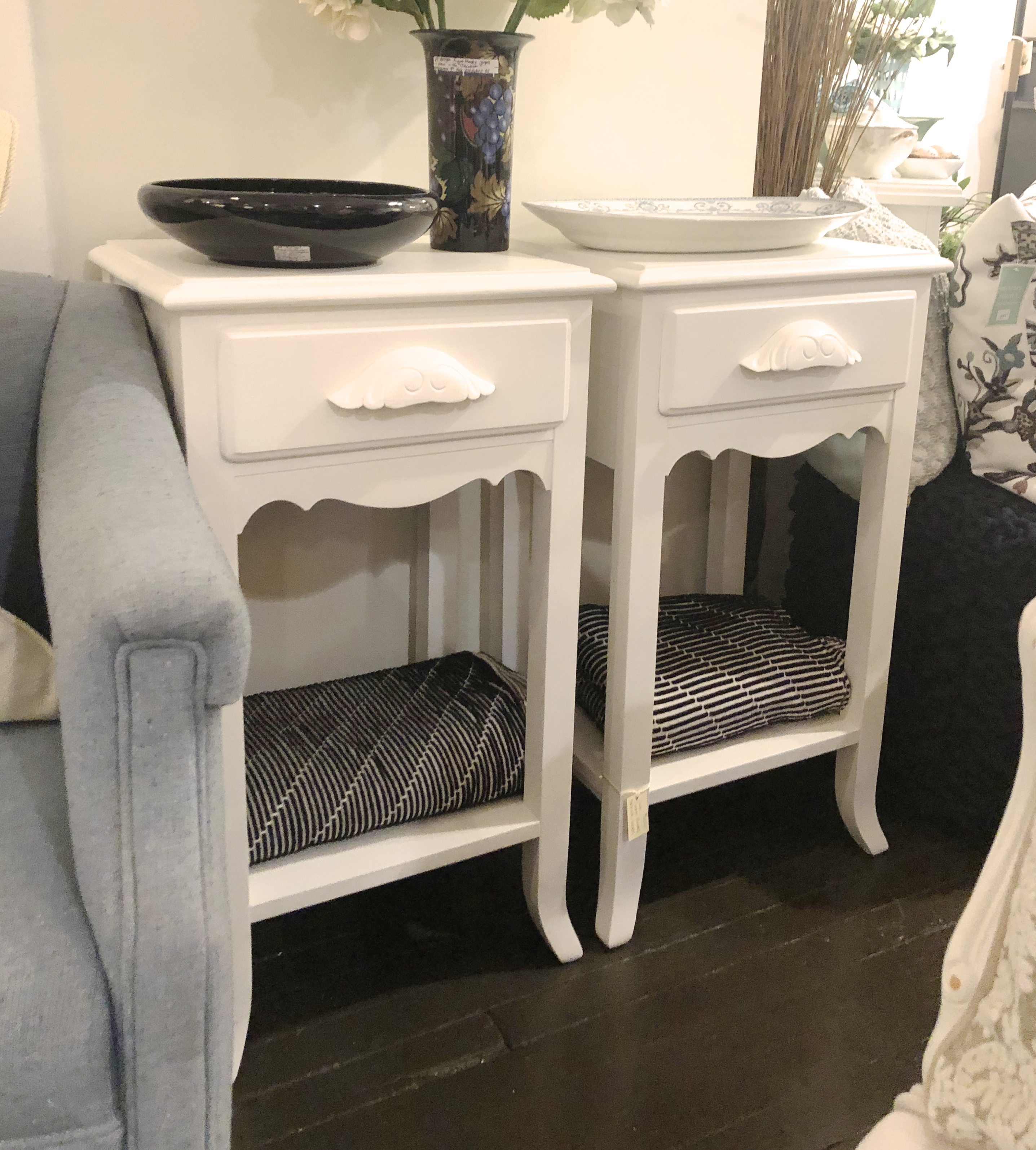 Pair of Painted Vintage End Tables