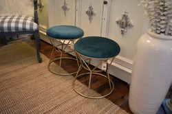Upholstered Metal Stool