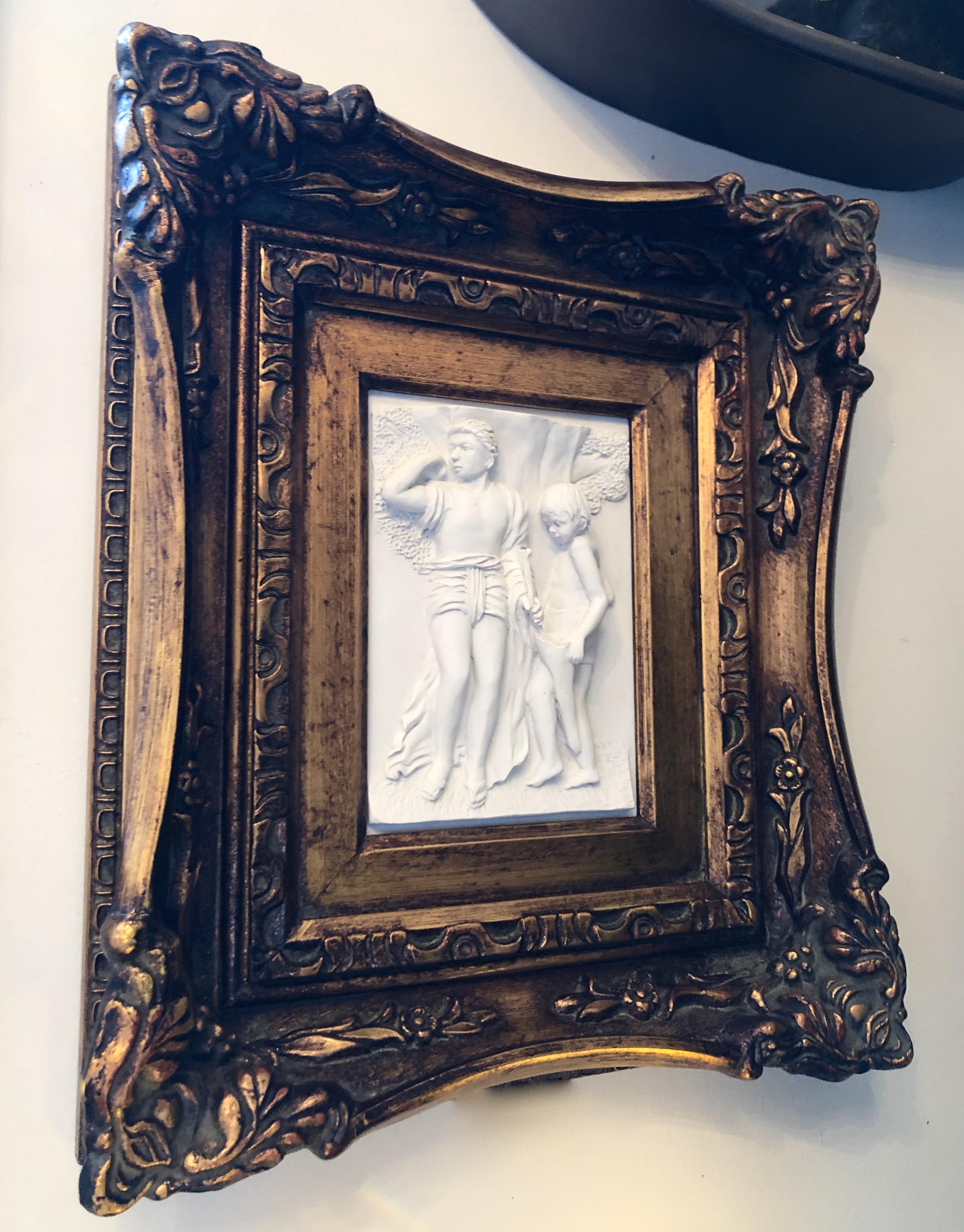 Vintage Framed Relief