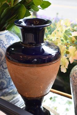 Signed Antique Royal Doulton Lambeth-Slater Stoneware