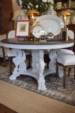 Unique Antique JR Horner Griffin Table